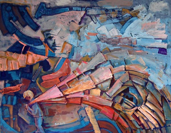 M - obraz abstrakcyjny autorstwa Artura Endlera