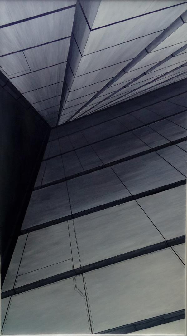 Abstrakcja przestrzenna obraz autorstwa Przemysława Cichego