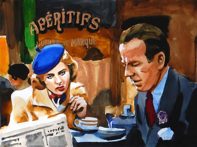 Casablanca w kawiarni autorstwa Marcina Kędzireskiego