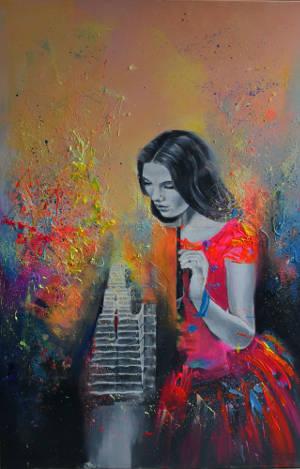 """Obraz akrylowy """"Imagination World"""" Elizy Kleczewskiej"""