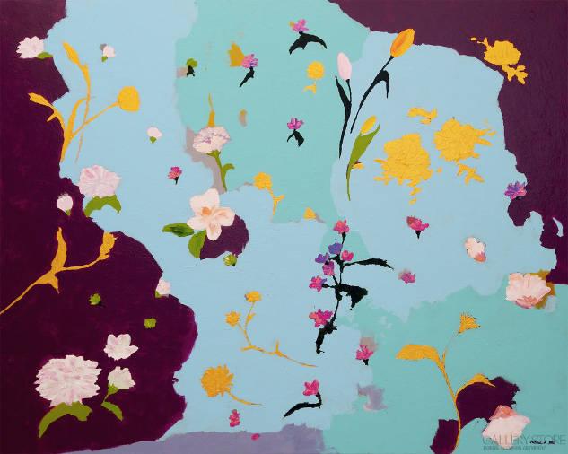 Kwiaty - obraz akrylowy na płótnie