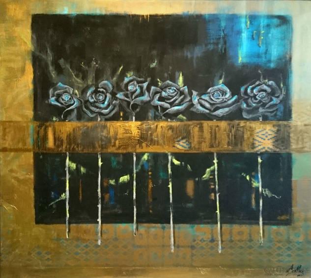 Black Roses - obraz akrylowy na płótnie Aleksandry Michalik
