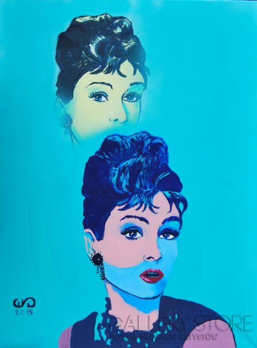 Emilia Gąsienica-Setlak Audrey Hepburn - obraz akrylowy na płótnie