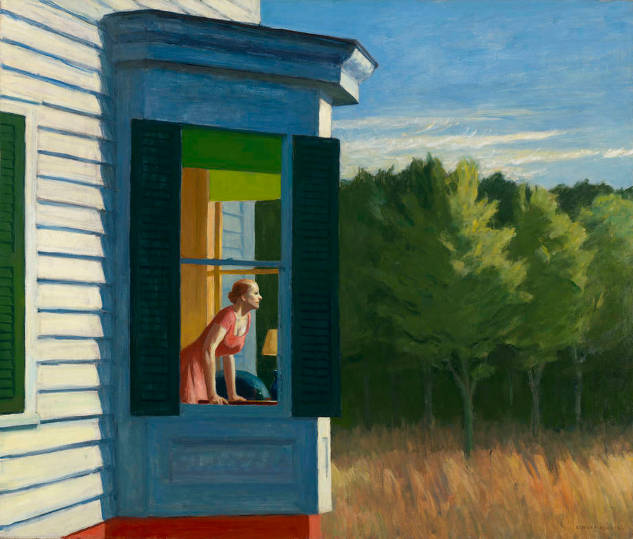 Edward Hopper, Cape Cod Morning, źródło: fondationbeyeler.ch